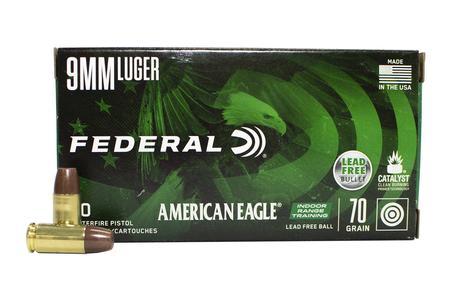 Federal 9mm 70 gr Lead Free IRT American Eagle 50/Box