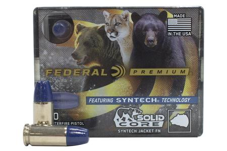FEDERAL AMMUNITION 9mm +P 147 gr JHP Solid Core Syntech 20/Box
