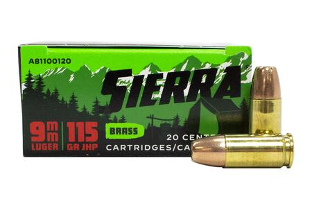 Sierra Bullets 9mm 115 gr JHP Outdoor Master 20/Box