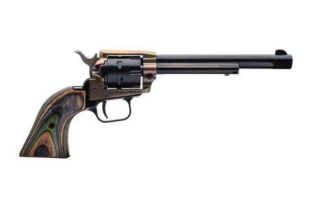 HERITAGE ROUGH RIDER .22LR 6 SHOT REVOLVER WITH CAMO WOOD GRIP