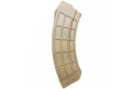 CENTURY ARMS US Palm AK-47 7.62x39mm 30-Round FDE Magazine with Stainless Steel Latch
