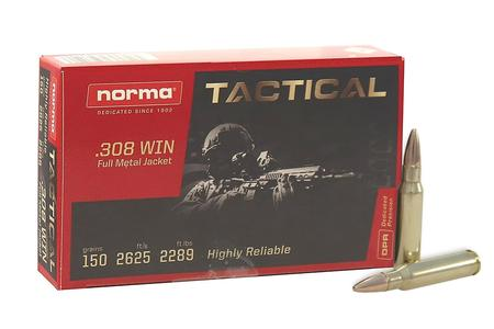 Norma 308 Win 150 Gr FMJ Tactical 20/Box