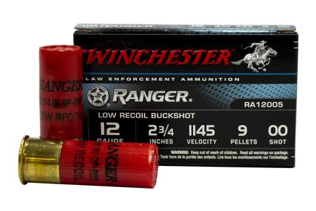 Winchester 12 Gauge 2.75 in 9 Pellet 00 Buck Ranger Police Trade Ammunition 5/Box