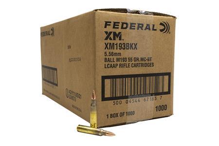 Federal 5.56mm 55 gr FMJ BT XM193 American Eagle 1000 Round Case (Loose)