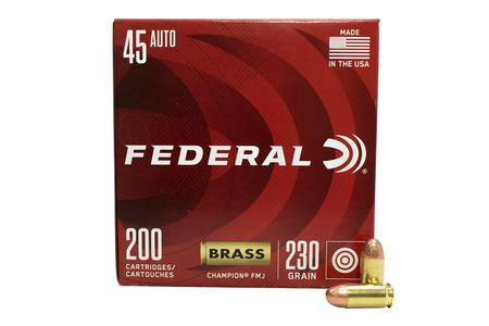 Federal 45 ACP 230 gr FMJ Champion Training 200/Box