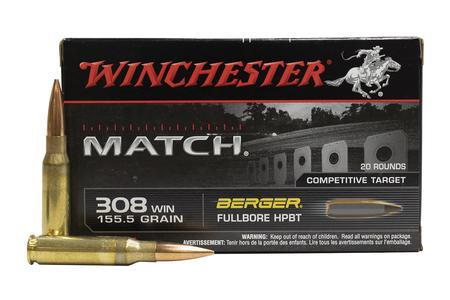 Winchester 308 Win 155.5 gr Berger FullBore HPBT Match 20/Box