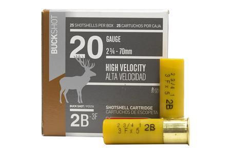Aguila 20 Gauge 2.75 in 1 oz 2 Buckshot High Velocity 25/Box