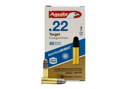 Aguila 22 LR 40 gr Lead Solid Point Target Competition 50/Box