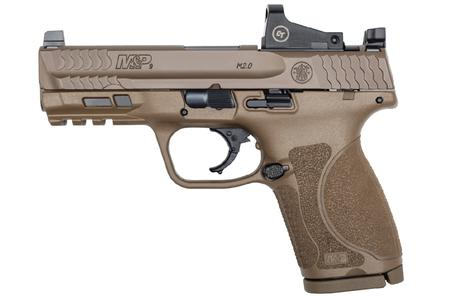 SMITH AND WESSON MP M2.0 COMPACT 9MM FDE 4` BBL W/CT RED DOT 15 RND MAG