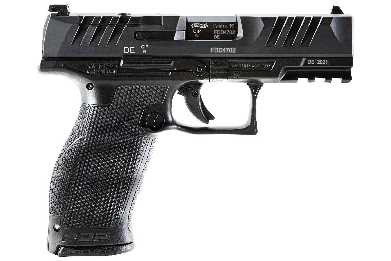 PDP FULL-SIZE 9MM OPTICS READY PISTOL WITH 4 INCH BARREL, TRITIUM SIGHTS AND THR