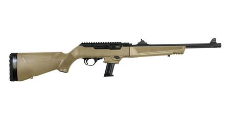 RUGER PC CARBINE 9MM FLAT DARK EARTH RIFLE WITH THREADED BARREL