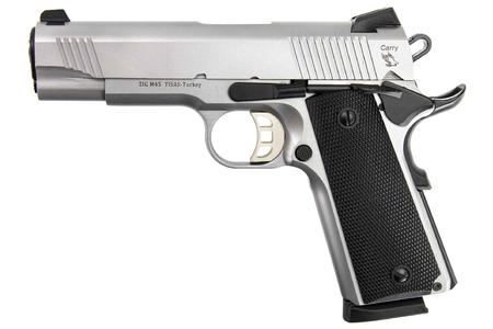 TISAS 1911 CARRY 45 ACP 4.25` BBL SS UPGRADED FEATURES