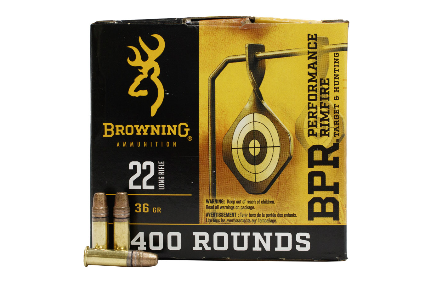 22LR 36 GR COPPER PLATED HP 400/BOX