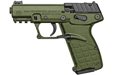 KELTEC P17 22LR 16-ROUND SEMI-AUTOMATIC PISTOL WITH GREEN FINISH