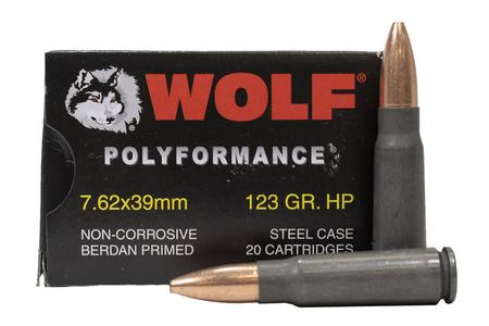Wolf Ammo 7.62x39mm 123 gr HP PolyFormance 20/Box