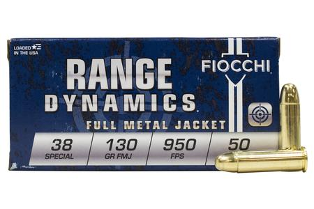 FIOCCHI 38 Special 130 gr Full Metal Jacket Range Dynamics 50/Box