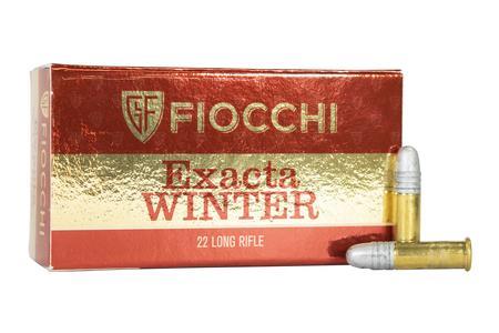 Fiocchi 22 LR 40 gr Round Nose Exacta Winter Super Match 50/Box