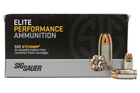 Sig Sauer 45 ACP 185 gr V-Crown JHP Elite Performance 50/Box