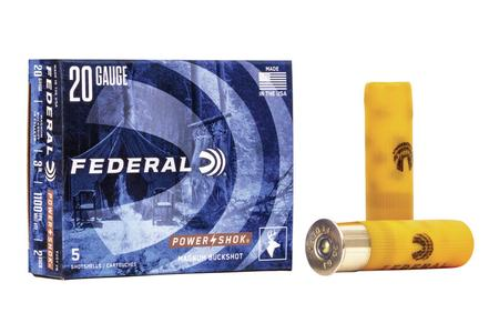 Federal 20 Gauge 3 Inch Magnum-Lead Buckshot Power-Shok 5/Box