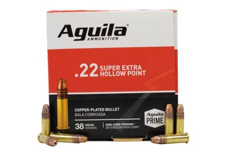 Aguila 22 LR 38 gr Supra Extra Hollow Point Prime 500/Box
