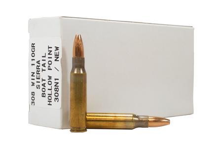 Ultramax 308 Win 110 Gr HP Sierra Boat Tail HP Police Trade Ammo 20/Box