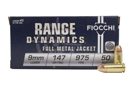 Fiocchi 9mm 147 gr FMJ Range Dynamics 50/Box