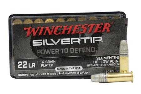 Winchester 22 LR 37 gr HP Plated Silvertip 50/Box