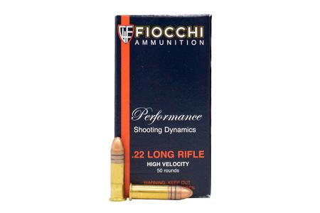 Fiocchi 22LR 40 Gr Copper Plated Solid Point Performance Shooting Dnamics 50/Box