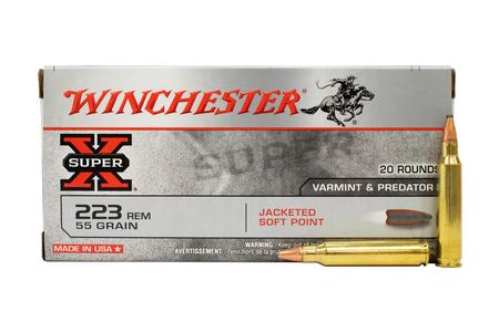 Winchester 223 Rem 55 Gr Jacketed SP Super-X 20/Box