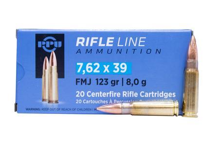 Ppu 7.62X39mm 123 gr FMC Rifle Line 20/Box