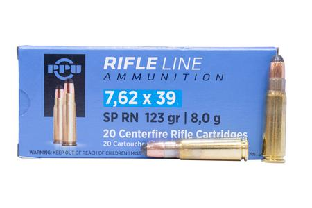 Ppu 7.62x39mm 123 gr Soft Point (SP) 20/Box