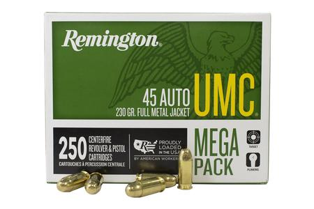 Remington 45 Auto 230 gr FMJ 250 Round Value Pack