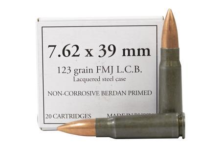 Russia 7.62x39mm 123 gr FMJ Police Trade Ammo 20/Box
