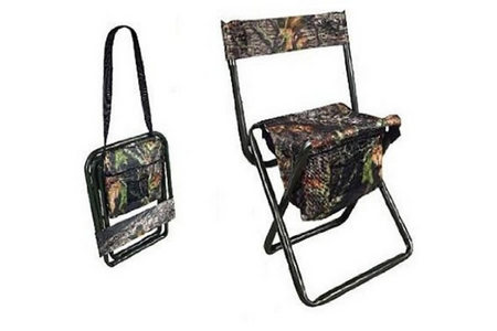 CAMO FOLDING STOOL WITH BACK