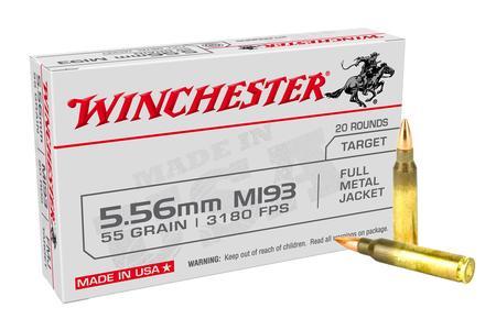 Winchester 5.56mm 55 gr Full Metal Jacket USA 20/Box