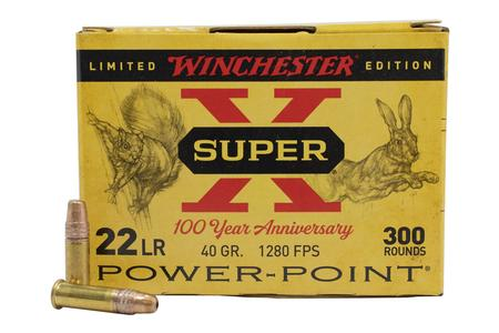 Winchester 22LR 40 gr HP Power Point Super X 100 Year Anniversary Limited Edition 300/Box