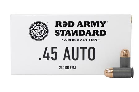 Red Army Standard 45 ACP 230 gr FMJ Steel Case 50/Box