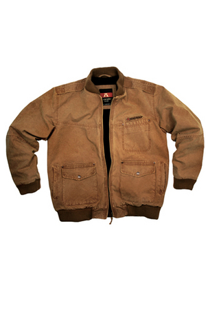 CONCEAL CARRY STONE WASHED BOMBER JKT