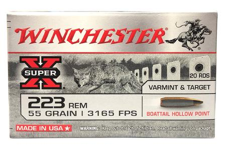 Winchester 223 Rem 55 gr BTHP Super X Varmint and Target 20/Box
