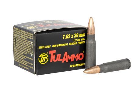 Tula Ammo 7.62X39mm 122 gr FMJ Steel Case 20/Box