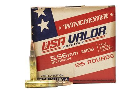 Winchester 5.56mm M193 55gr FMJ USA Valor Series 125/Box