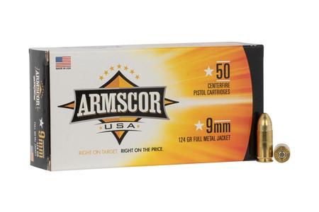 Armscor 9mm 124 gr FMJ 50/Box