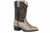 YOUTH SNAKE PRINT WESTERN BOOT
