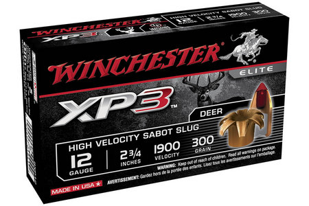 WINCHESTER AMMO 12 Ga 2-3/4 in 300 gr Sabot XP3 5/Box