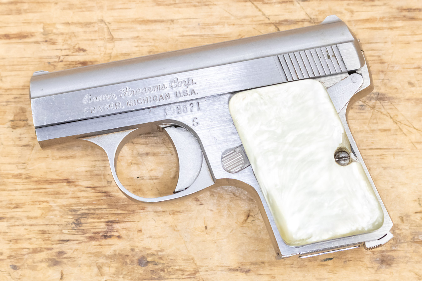 25 ACP Used Trade-in Pistol with Mother of Pearl Grips
