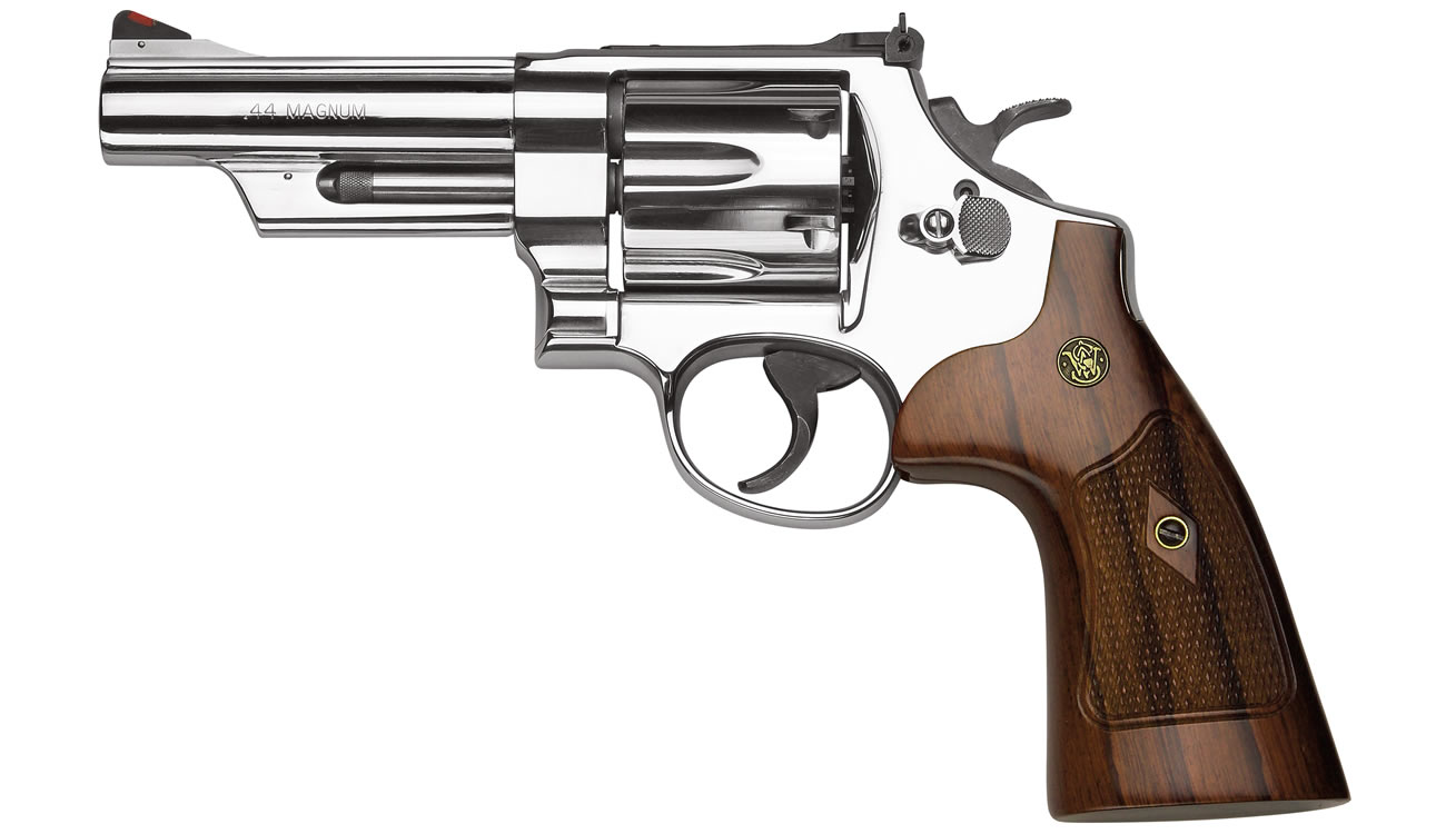 Smith & Wesson Model 29 Classic 44 Magnum 4-inch Barrel with Nickel Finish and Walnut Grips ...