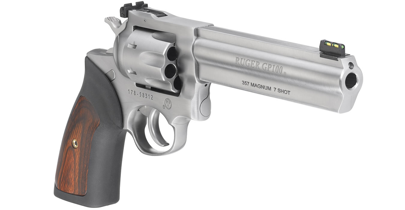 GP100 357 Magnum 7-Shot Double-Action Revolver with 6-Inch Barrel