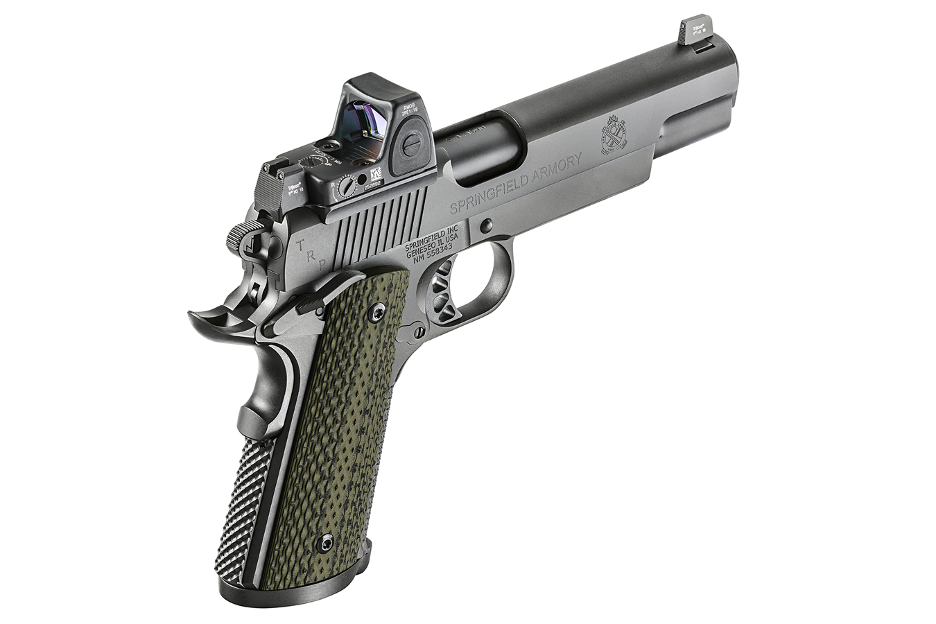 1911 TRP 10mm with Trijicon RMR Reflex Sight and Range Bag