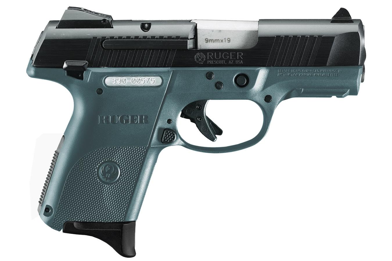 Ruger Sr9c Compact 9mm Blue Titanium Centerfire Pistol