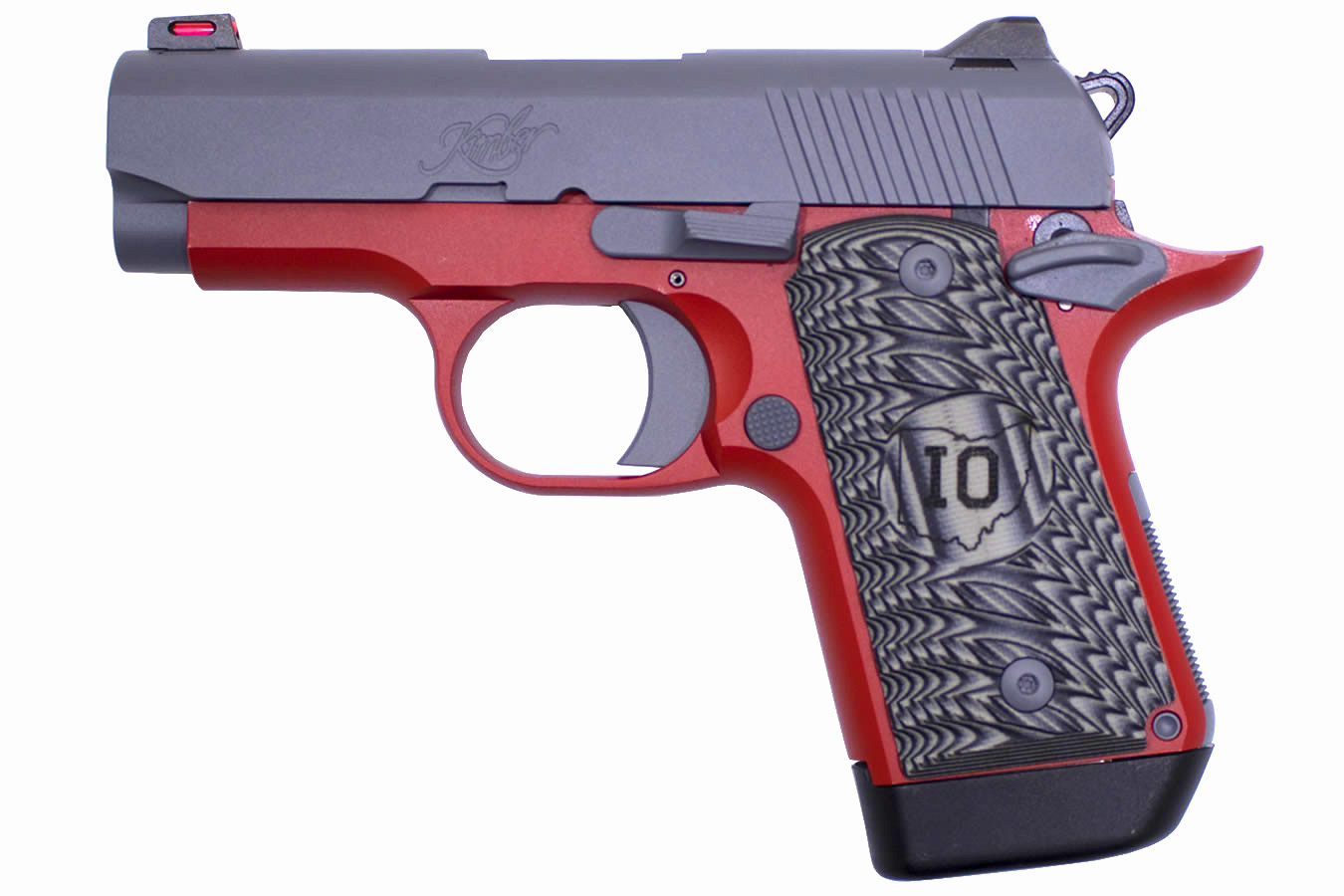 Micro 9 9mm Matte Grey Slide and Matte Red Frame Special Edition Pistol